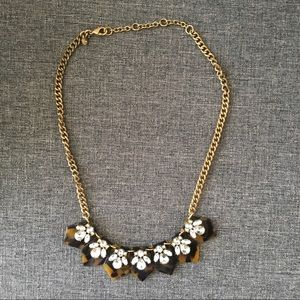 J. Crew Tortoise Statement Necklace